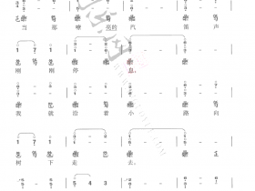 「山楂树」古琴曲谱减字谱